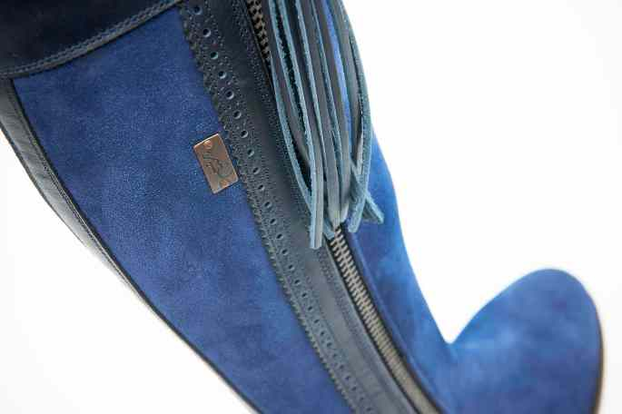 The Spanish Boot Company Blue Suede With leather Detail